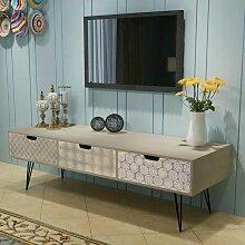TV-Schrank mit 3 Schubladen 120x40x36 cm grau