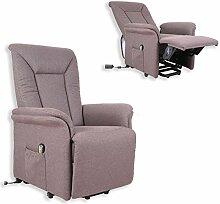 TV-Sessel - braun - mit Funktionen - elektronisch