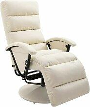 TV-Sessel Creme Kunstleder 14101 - Topdeal