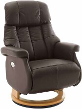 TV Sessel in Braun Leder elektrisch