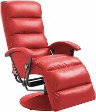 TV-Sessel Rot Kunstleder125-A