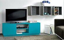 TV-Sideboard, TV-Schrank, HiFi-Schrank, Sideboard türkis