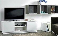 TV-Sideboard, TV-Schrank, HiFi-Schrank, Sideboard weiß