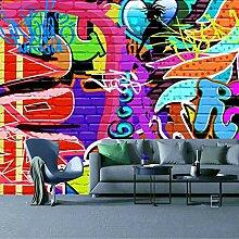 TV-Tapete_3D Graffiti Wandfarbe Anker Schlafzimmer