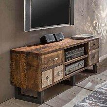 TV Unterschrank im Loft Design Mangobaum
