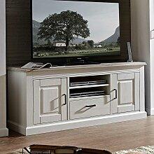 TV Unterschrank in Weiß Taupe skandinavischer