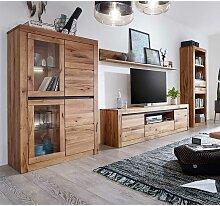 TV Wohnwand aus Wildeiche Massivholz Zerreiche