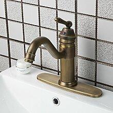 Tw Kupfer Antik Stil Wasserhahn auf beckenweite heiße und kalte Einloch-Armatur