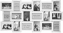 TW24 Bilderrahmen Collage für 18 Bilder je 10x15