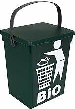 TW24 Bio Mülleimer grün 5L Küche Abfalleimer