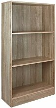 TW24 Bücherschrank 3 Fächer Holz - Sonoma Eiche