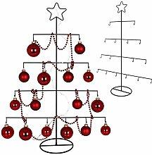 TW24 Deko Metall Weihnachtsbaum mit Stern 76cm