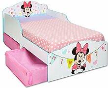 TW24 Einzelbett - Bett - Kinderbett Disney Minnie Weiß - Holz mit Schubladen