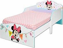 TW24 Kinderbett Holz 140 x 70cm Minnie weiß -