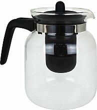 TW24 Teekanne Glas mit Sieb 1,5 Liter Kaffeekanne