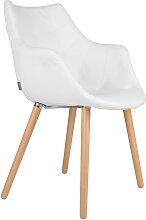Twelve - Stuhl - Kunstleder - Weiß