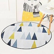TWGDH Runde Teppich Europäischen Geometrische Für Wohnzimmer Kinder Schlafzimmer Teppiche Computer Stuhl Bodenmatte,C,60*60CM