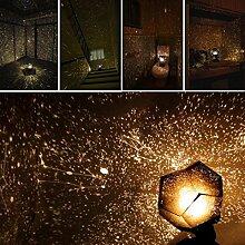 TWIFER Celestial Star Cosmos Romantische Stern-Nachtlichter Projektor-Nachtlampe Sternenhimmel Schlafzimmer Dekoration Beleuchtung Gadget (Warmweiß)