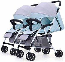 Twin Kinderwagen, Doppel Infant Trolley Abnehmbare