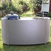 Twin Kitchen Kohle, ED Kohlegrill + Waschbecken