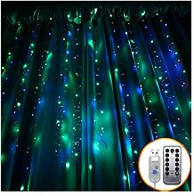 Twinkle Star 300 LED-Fenster-Vorhang-Schnur-Licht