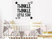 Twinkle Twinkle Little Star Wandtattoo Vinyl