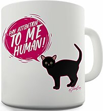 Twisted Envy achten to me Becher Cat Funny, keramik, weiß, 15 OZ