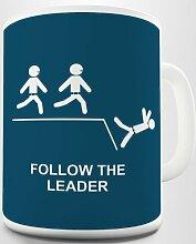 TWISTED ENVY Beachten Sie Die Hinweise Leader. Bedruckte Kaffeetasse Tasse Becher Cup Mug Keramiktasse