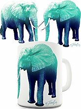 Twisted Envy blau Elefanten Keramik Funny Tasse