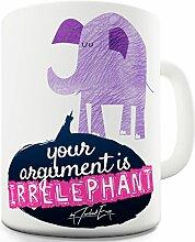 Twisted Envy irrelevant Elefant Keramik Tee Tasse