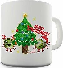 Twisted Envy Merry sproutmas Weihnachtsbaum Keramik Tasse