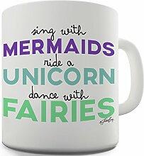 Twisted Envy Sing mit Meerjungfrauen Keramik Funny Tasse
