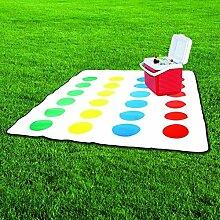 Twister Picknickdecke mit Drehscheibe als