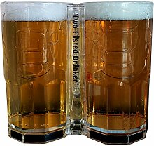 Two Fisted Trinker – Transparenter Bierbecher