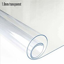 TWTIQ PVC Tischdecke Tischdecke Transparent