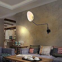Twyypgone Wandleuchte, Schmiedeeiserne Wandleuchte, Wohnzimmer Dekorative Lampe, Einem Kopf