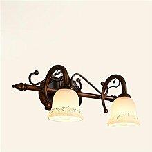 TXD Hochwertige minimalistischen Wandleuchten LED-Spiegel-Leuchten wasserdicht Anti-Beschlag Kupfer Antiquit?t Badezimmer Spiegel Leuchten antike Wandleuchten Schlafzimmer Spiegel Lampe