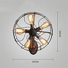 TXD Kreative Retro-Wandleuchte, industrielle Wind Wandleuchten, amerikanisches Land Wandleuchten, antike, schmiedeeiserne Lampen, Schlafzimmer Lampe, Garten, Flur, Gang Lichter
