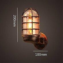 TXD Kreative Wandleuchten industrielle Wind Wandlampen Schmiedeeisen Holz Massivwand amerikanisches Land Wandleuchten antike dekorative Wandleuchte