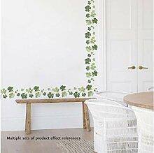 TXDWYF Green Leaf Vine Baseboard Wandaufkleber