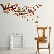 TXDWYF Maple Leaf Branches Wandaufkleber
