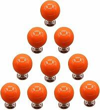 TXXCI 10Pcs Möbelknopf Schrankknöpfe Möbelknöpfe Set Möbelgriff Türknopf Cabinet Pulls Schrank Griffe Tür-Fach-Knöpfe für Dresser Kitchen - Orange
