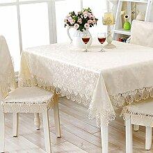 TXXM Tischdecken Beige Gelb Esstisch Tuch