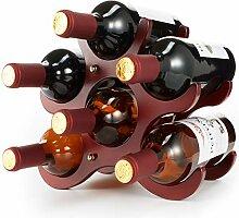 TXZWJZ Kleines Weinregal aus Holz für 6 Flaschen,