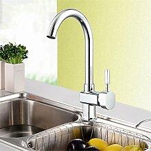TYAW-SHOP Warmes und Kaltes Wasser Küche Wasserhahn Ein Gericht Waschbecken Sanitär Turm Wasser