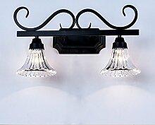 TYDXSD American Retro einfach im europäischen Stil Leuchten Spiegel Spiegel led lampe Badezimmer Badezimmer Spiegelschrank Licht,A