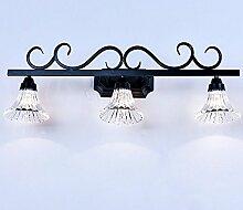 TYDXSD American Retro einfach im europäischen Stil Leuchten Spiegel Spiegel led lampe Badezimmer Badezimmer Spiegelschrank Licht,B