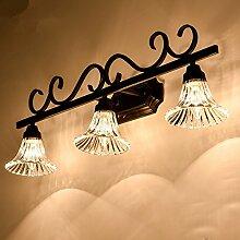 TYDXSD American Retro einfach im europäischen Stil Leuchten Spiegel Spiegel led lampe Badezimmer Badezimmer Spiegelschrank Licht,D