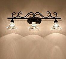 TYDXSD Amerikanische LED Wandleuchten Badezimmer Badezimmer Spiegel Spiegel Lampen leuchten, minimalistisches, modernes Bad Schminktisch Beleuchtung,B