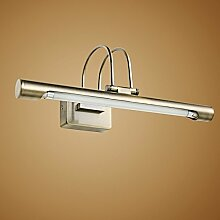 TYDXSD Amerikanische retro American Spiegel Lampe führten europäische Badezimmer Spiegel Licht minimalistischen Badezimmer Beleuchtung Spiegel Schrank Licht 370/500/630 * 140 * 130 mm , 14w bronze (63 cm)
